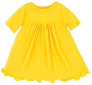 Lemon Classic Short Sleeve Swing Dress