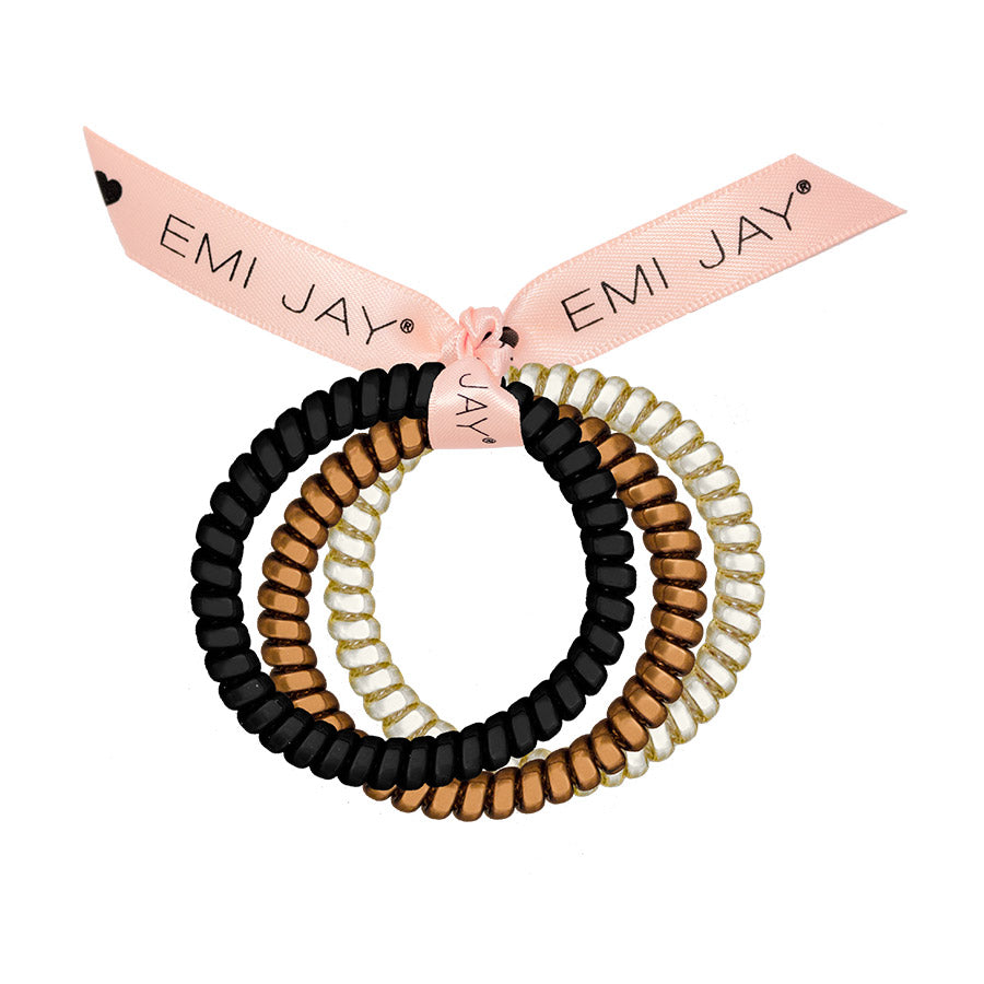 Champagne 3-Pack Hair Ties