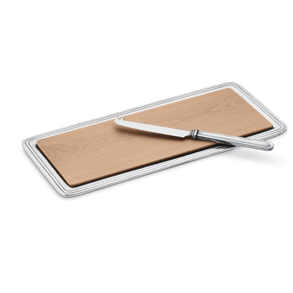 Peltro Cheese Board with Knife