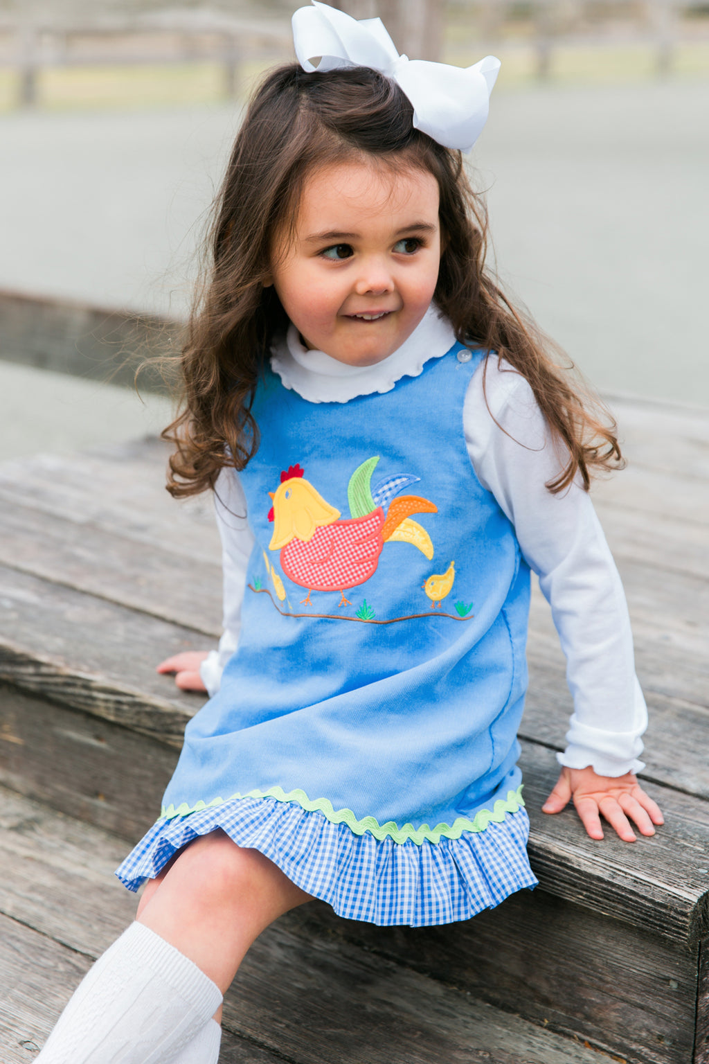 The Chicken Collection Girls Reversible Jumper