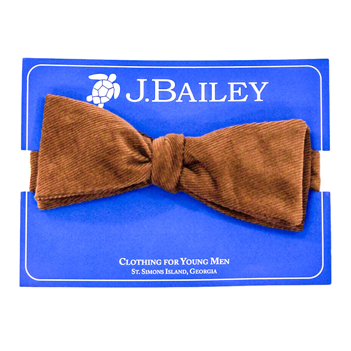 Chocolate Brown Corduroy Bow Tie
