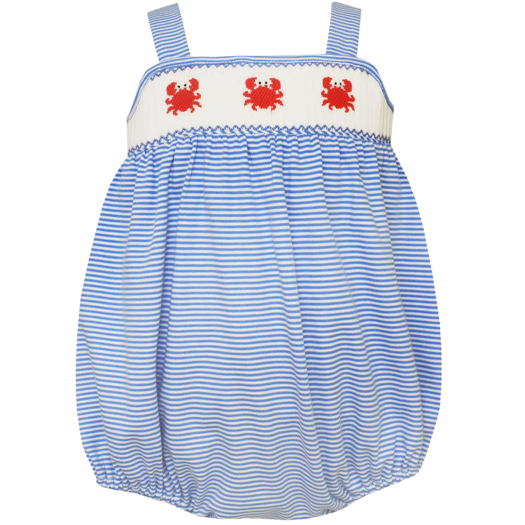 Blue Stripe Bubble With Straps And Baby Crabs