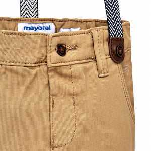 Mayoral Croissant Chino Trousers with Suspenders