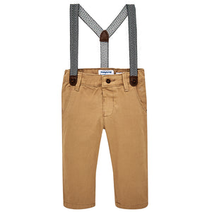 Croissant Chino Trousers with Suspenders