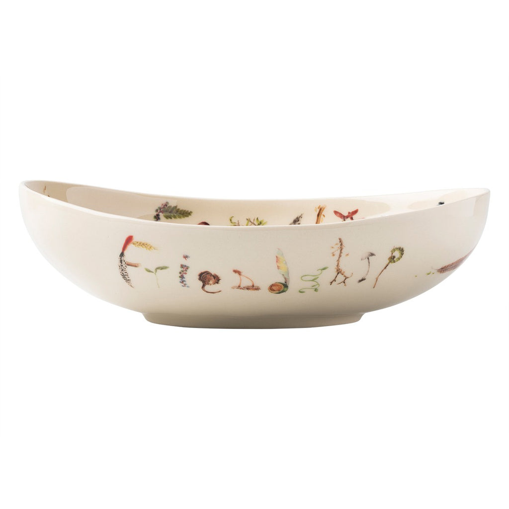 "Forest Walk Oval 9"" ""Friendship and Family"" Bowl"