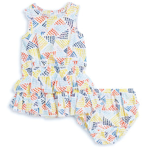Tiered Dress & Bloomer Set