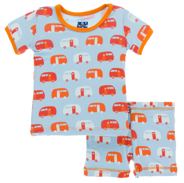 Pond Camper Short Sleeve Pajama Set w/ Shorts