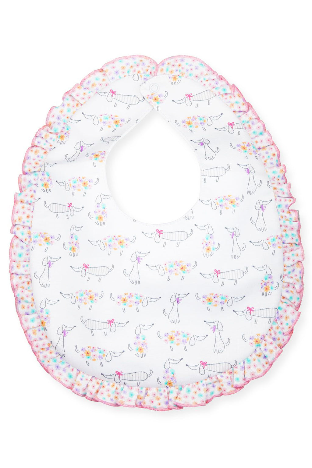 Kissy Kissy - Darling Dachshunds Ruffle Bib - kkgivingtree - K&K's Giving Tree