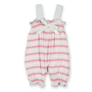 Girl Desert Stripe Gathered Romper w/ Bow