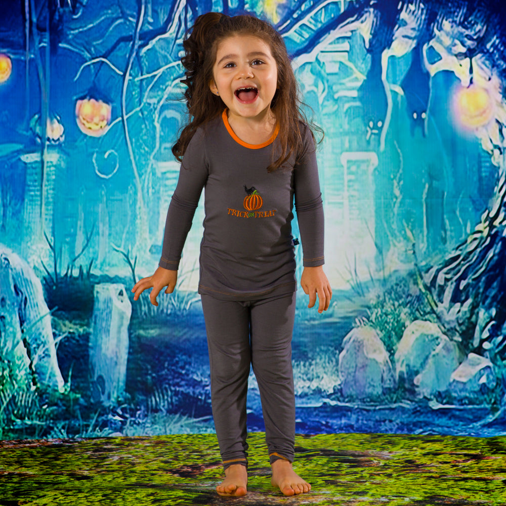 Stone Trick or Treat Long Sleeve 2 Piece Pajama Set
