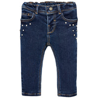 Pearl & Studded Denim Jeans