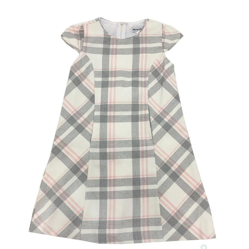Pink Plaid Shift Dress