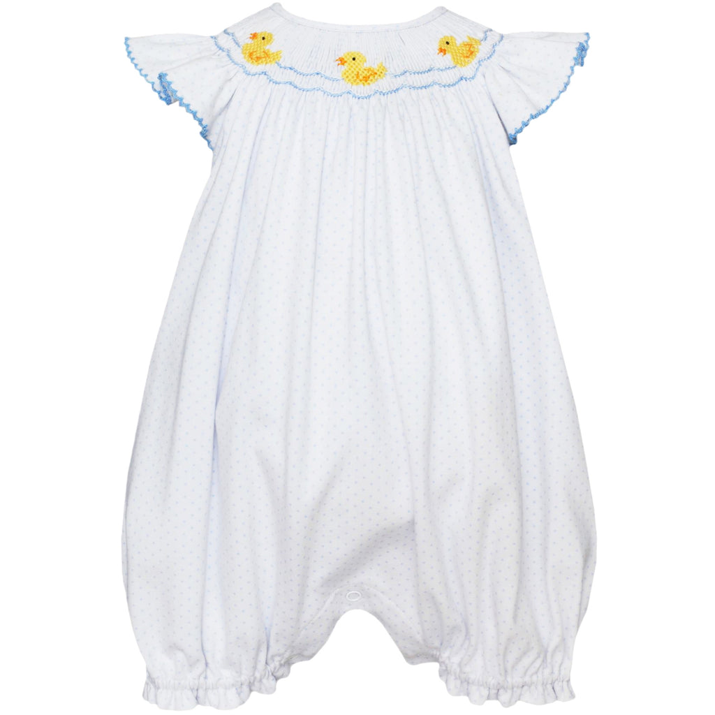 Baby Ducks Angel Sleeve Bubble W/ Ruffles On Back