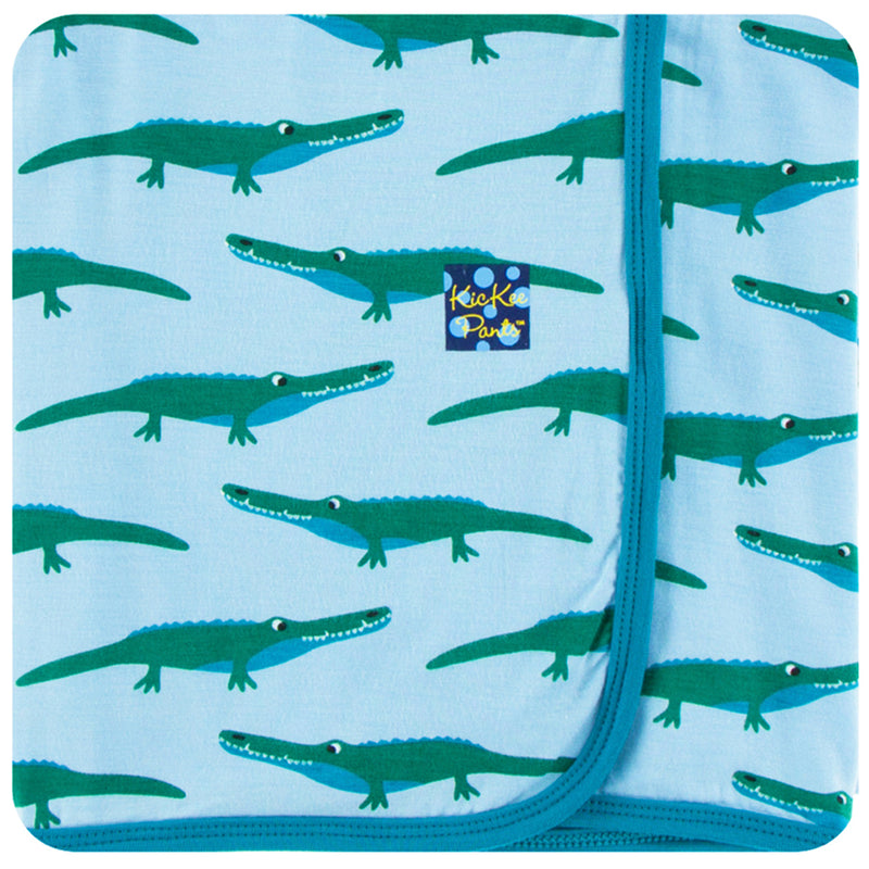 KicKee Pants - Pond Crocodile Swaddle - kkgivingtree - K&K's Giving Tree
