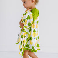 Natural Pineapple Classic Short Sleeve Swing Dress