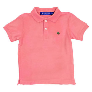 Salmon Pink Henry Polo