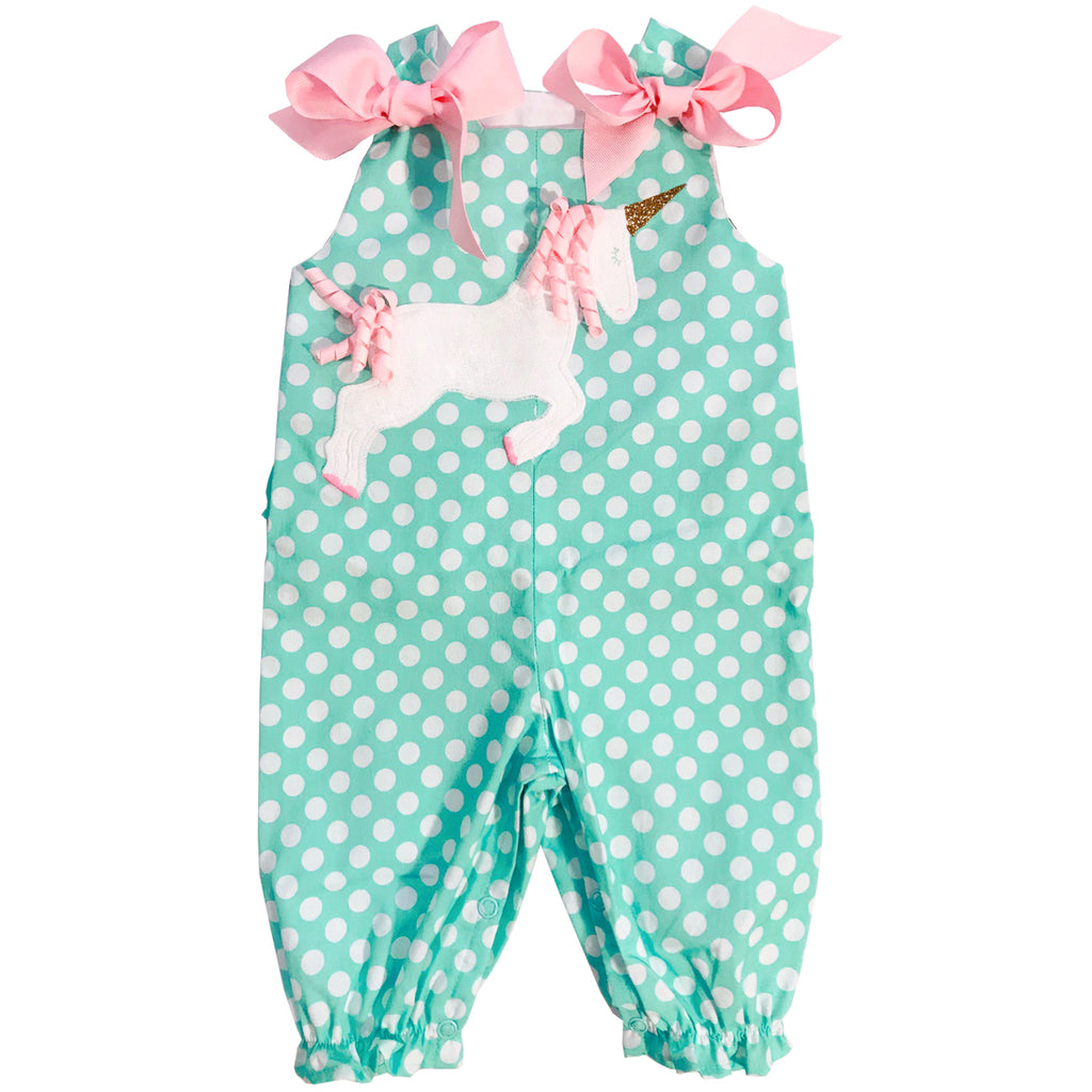 Bailey Boys - Unicorn Long Bubble w/ Bows - kkgivingtree - K&K's Giving Tree