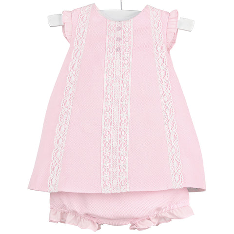 kkgivingtree - Luli & Me - Pink Pique & Lace Dress w/ Bloomers - K&K's Giving Tree