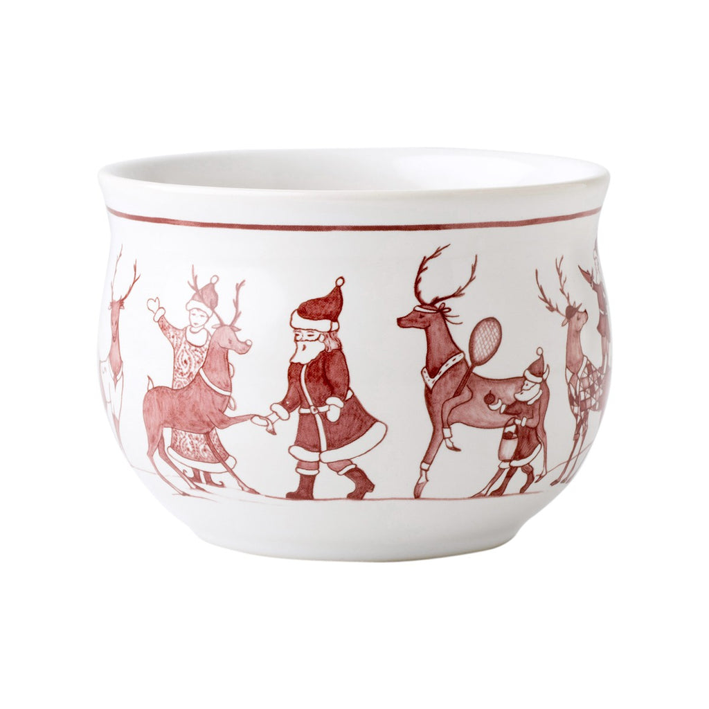 Country Estate Reindeer Games Ruby Comfort Bowl