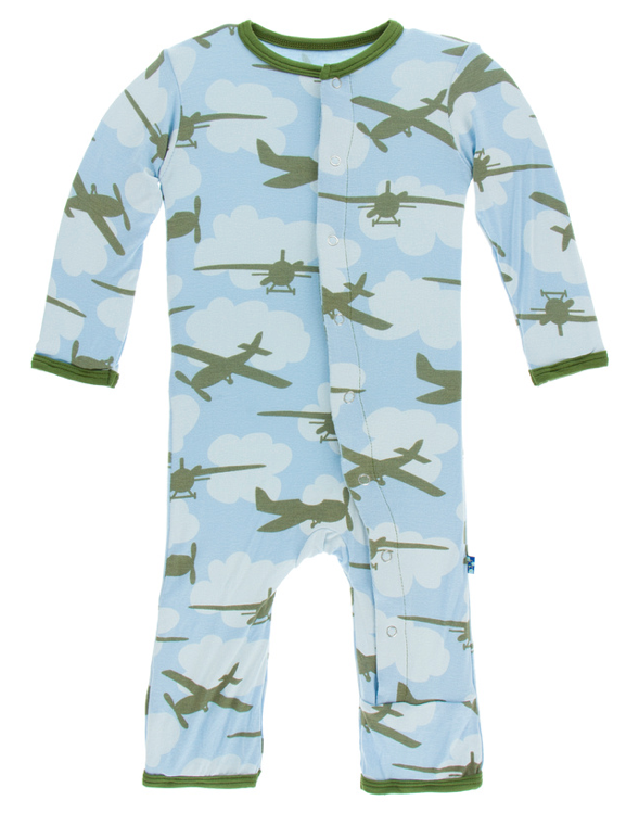 Pond Airplanes Coverall w/ Snaps