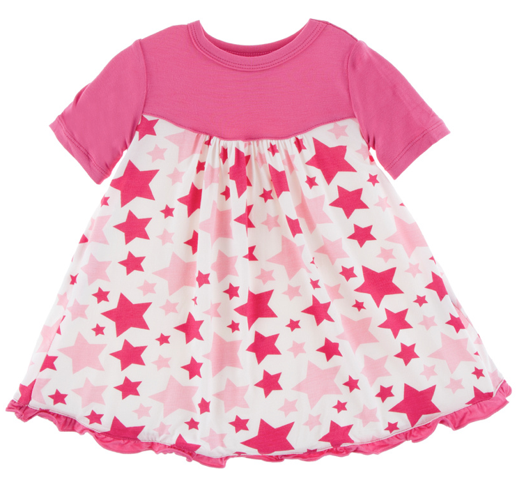Flamingo Star Classic Short Sleeve Swing Dress