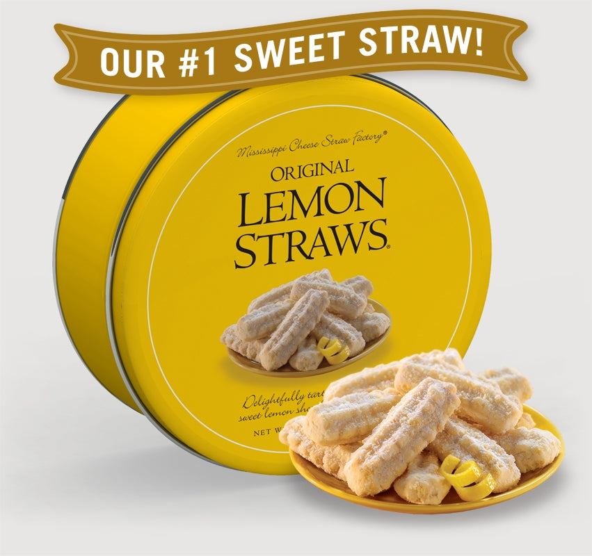 Original Lemon Straws® 16 oz Tin