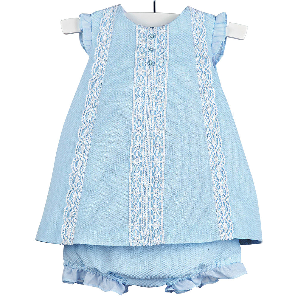 Luli & Me Baby Blue Dress - Front