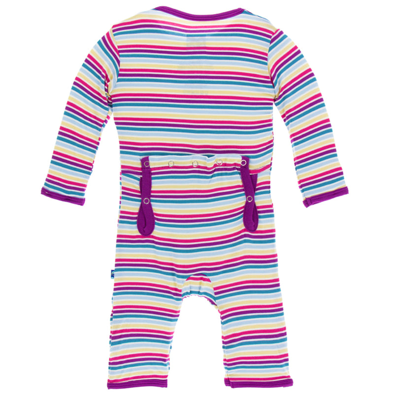 Girl Perth Stripe Coverall w/ Snaps