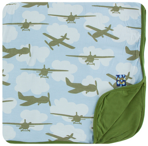 Pond Airplanes Toddler Blanket