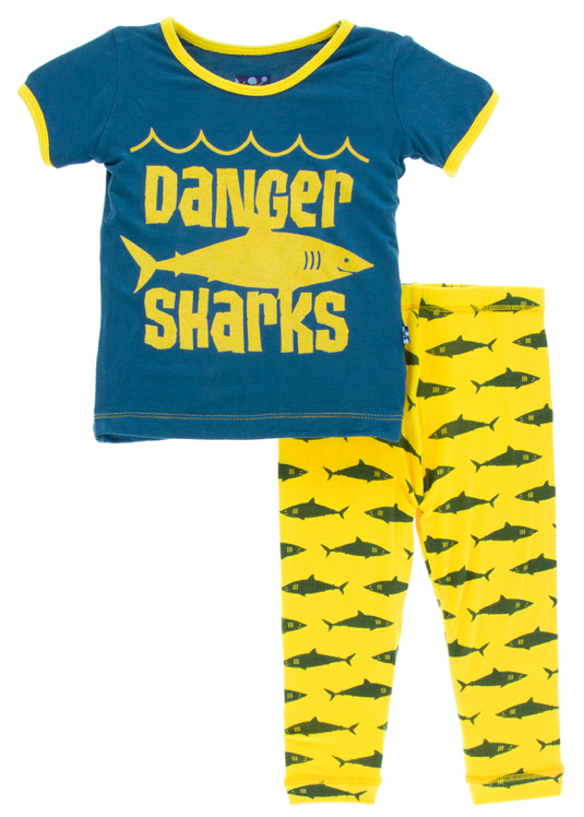 Lemon Shark Short Sleeve Pajama Set