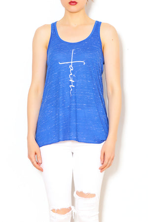 Blue Marble Faith Cross Tank