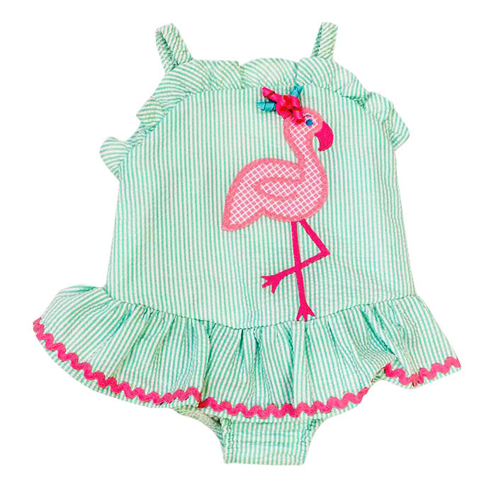 Bailey Boys - Flamingo One Piece Swimsuit w/ Ruffle - kkgivingtree - K&K's Giving Tree