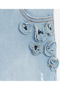 Mayoral - Floral Sapphire Studded Distressed Jean - kkgivingtree - K&K's Giving Tree