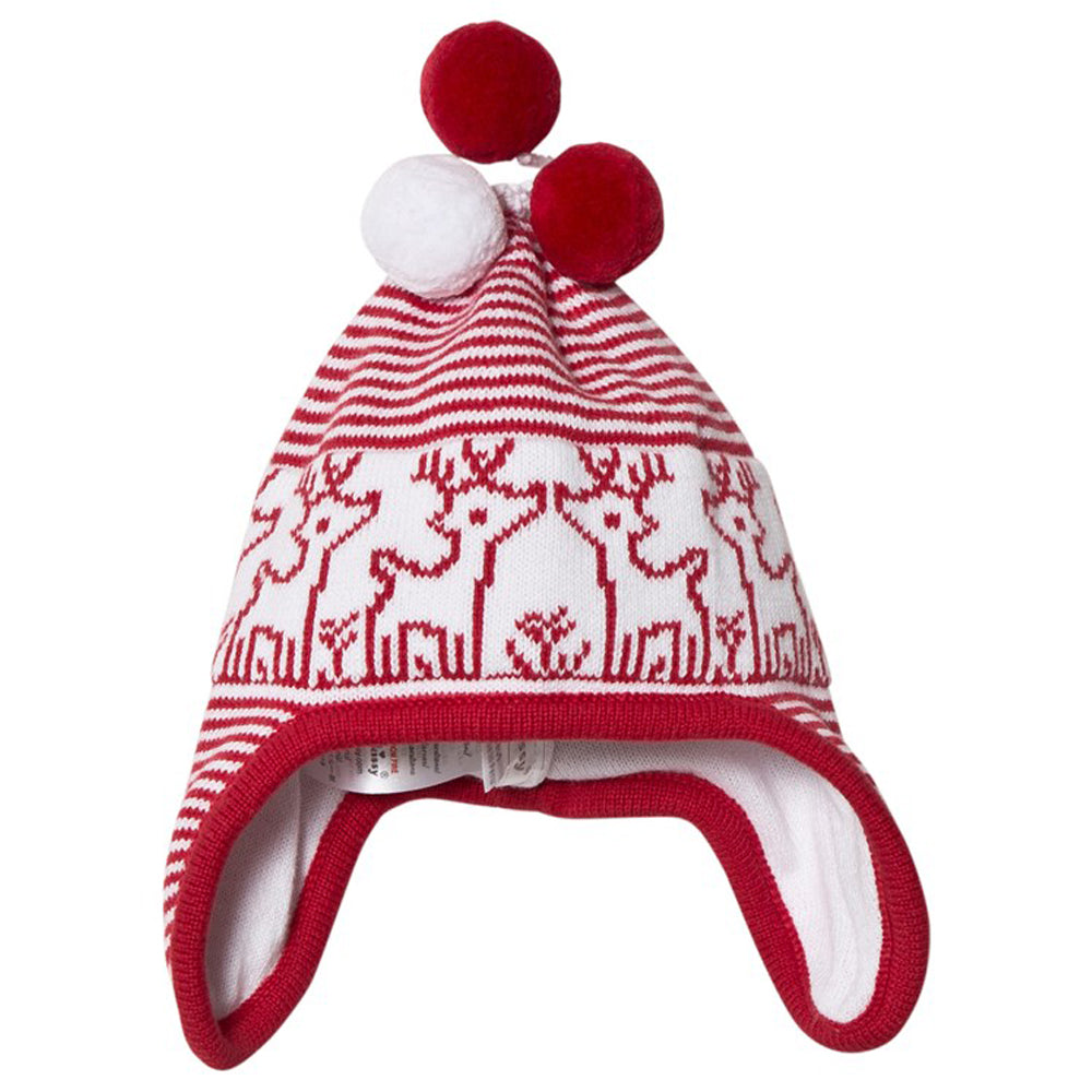 Reindeer Red Knit Hat