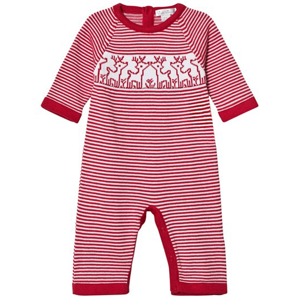 Reindeer Red Knit Playsuit