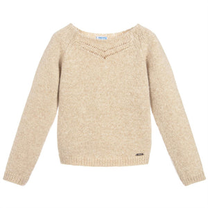 Gold Fleck Knitted Sweater