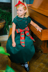 Christmas Forest Corduroy Empire Dress