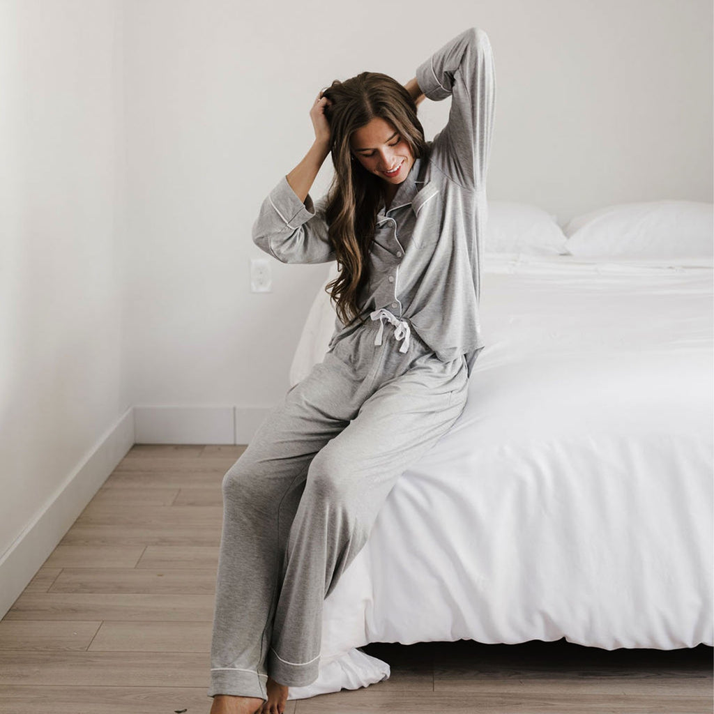 Stretch-Knit Bamboo Classic Long Sleeve Pajama Set