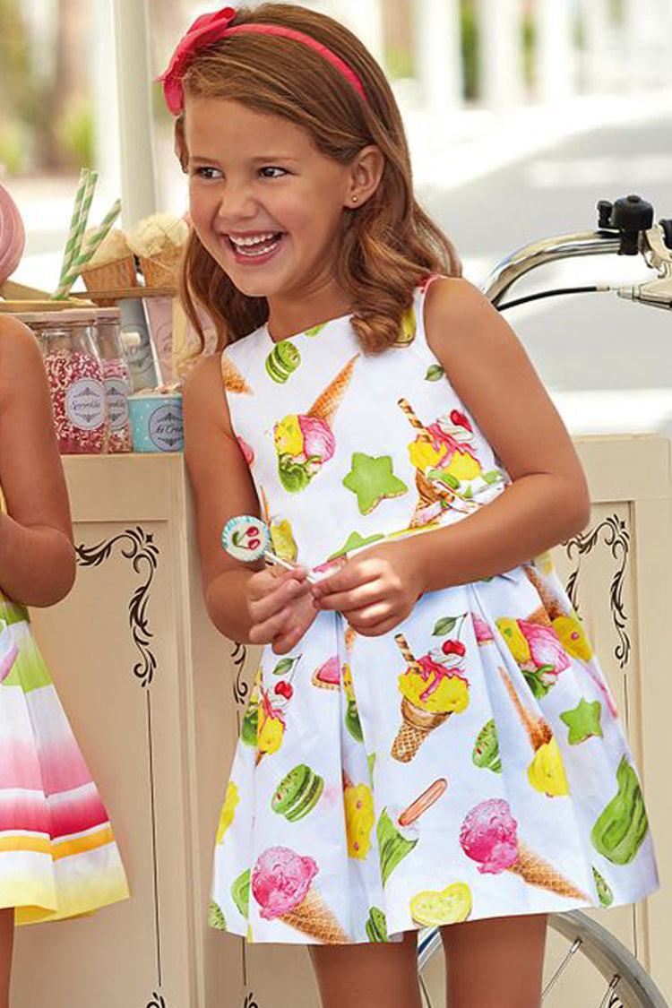 Mayoral - Ice-Cream Print Cotton Dress - kkgivingree - K&K's Giving Tree