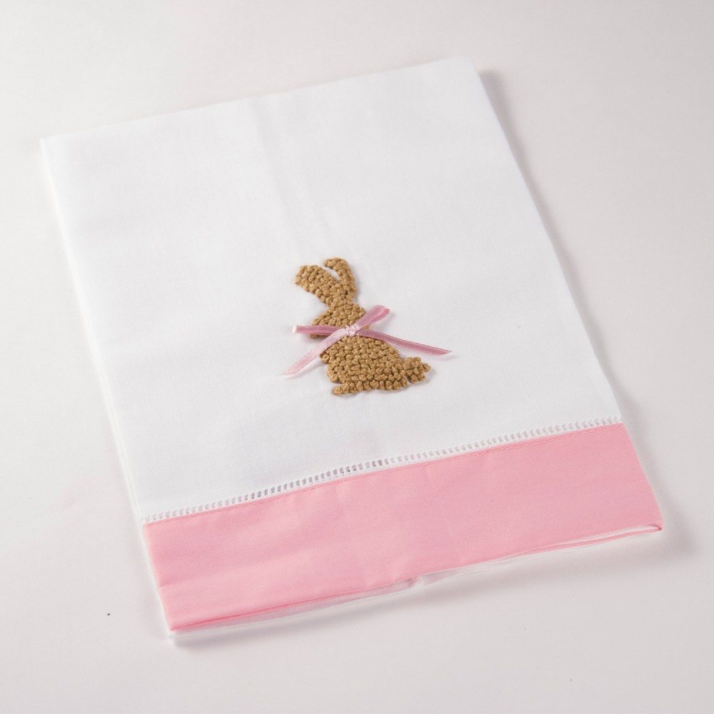 Rabbit French Knot Hand Towel