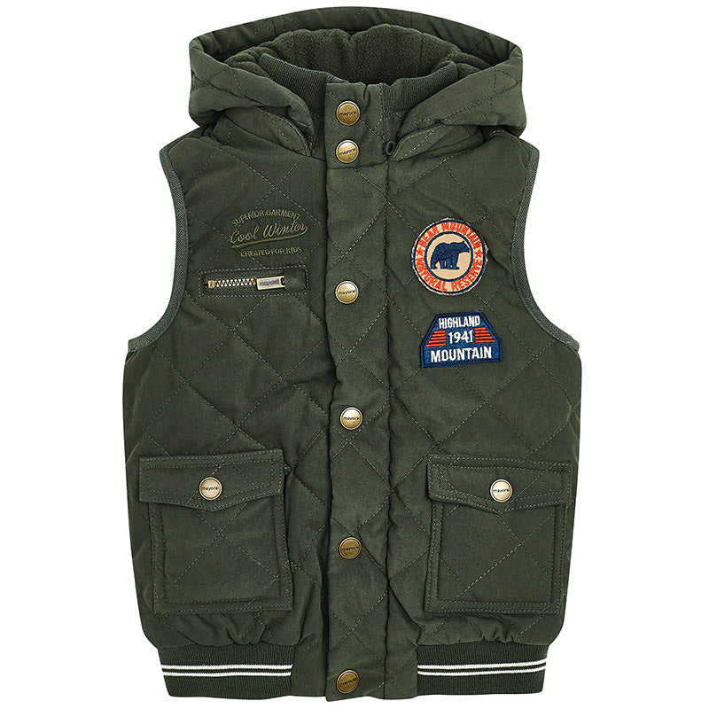 Mayoral Olive Padded Hooded Vest