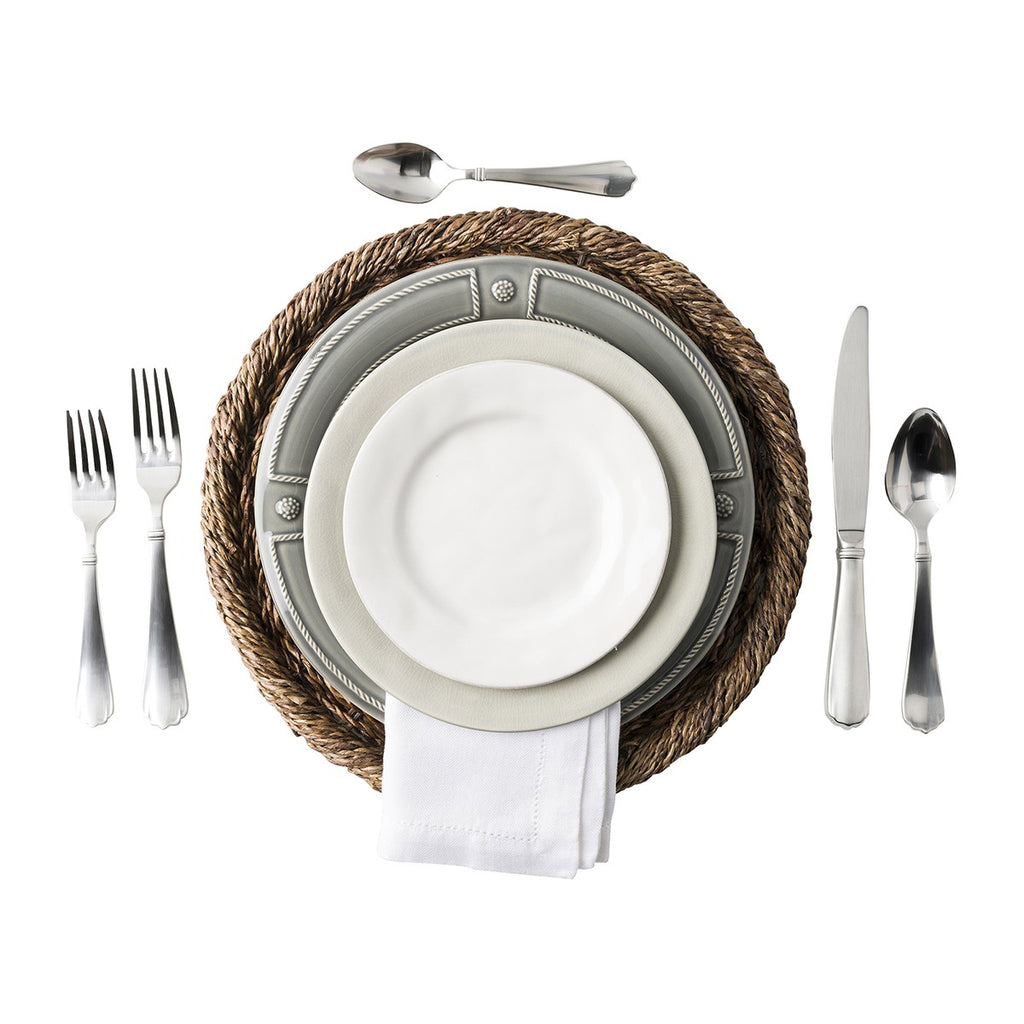 Berry & Thread French Panel Stone Grey Dinner Plate