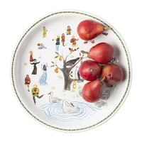 "Twelve Days of Christmas 15"" Round Platter"
