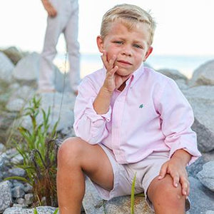 Pink Long Sleeve Button Down Shirt - Bailey Boys