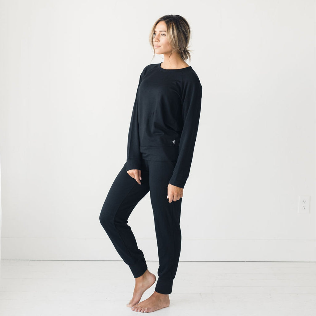 Ultra-Soft Black Bamboo Jogger Pant