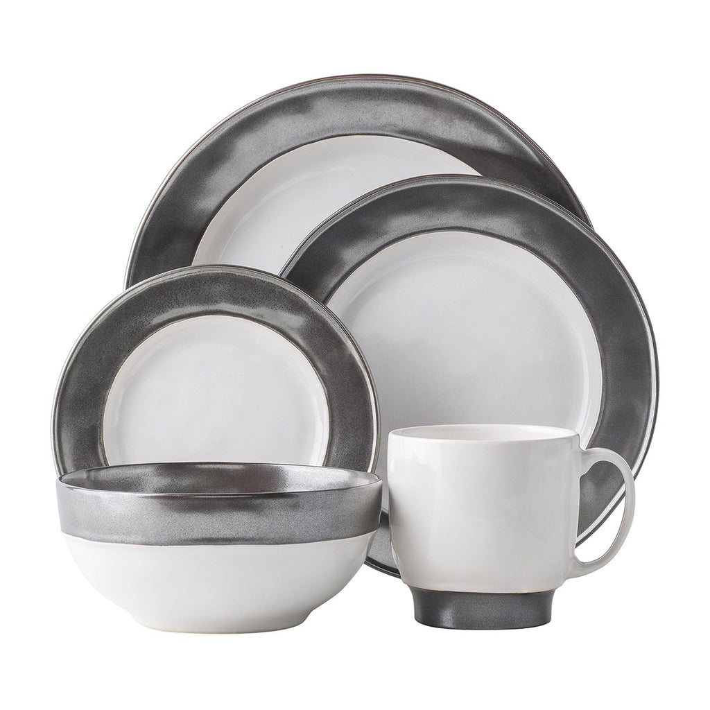 Emerson White/Pewter 5pc. Setting