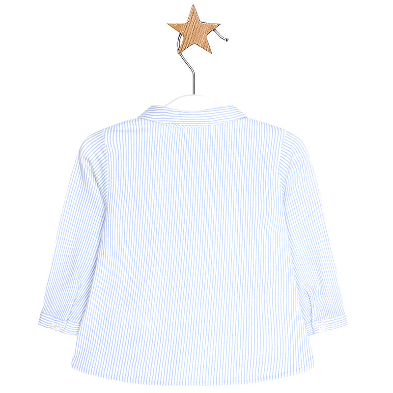 Sky Blue Stripe Long Sleeve Button Down Shirt