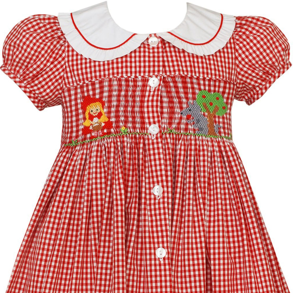 Little Red Riding Hood Smocked Dress