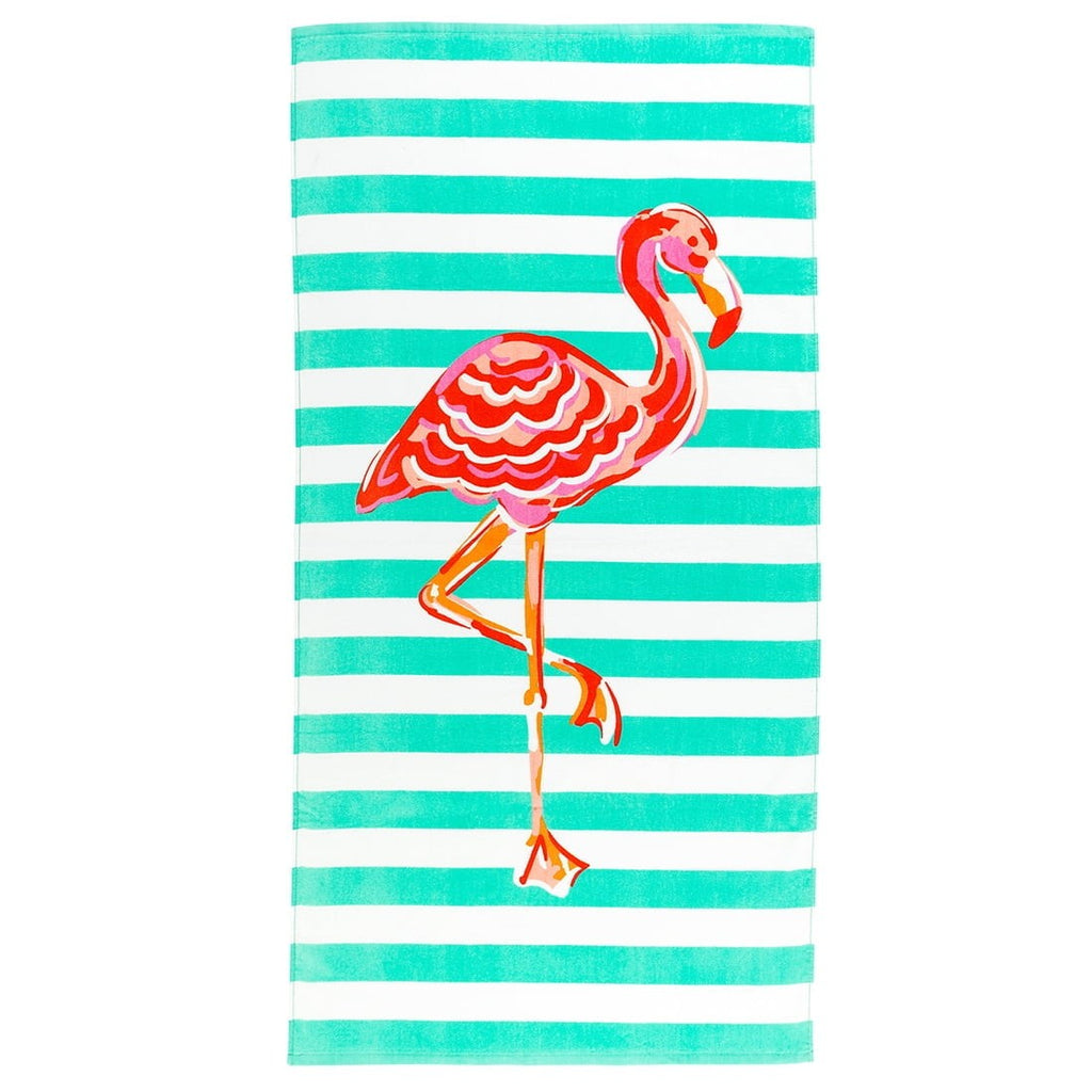 Flamingo Stripe Towel
