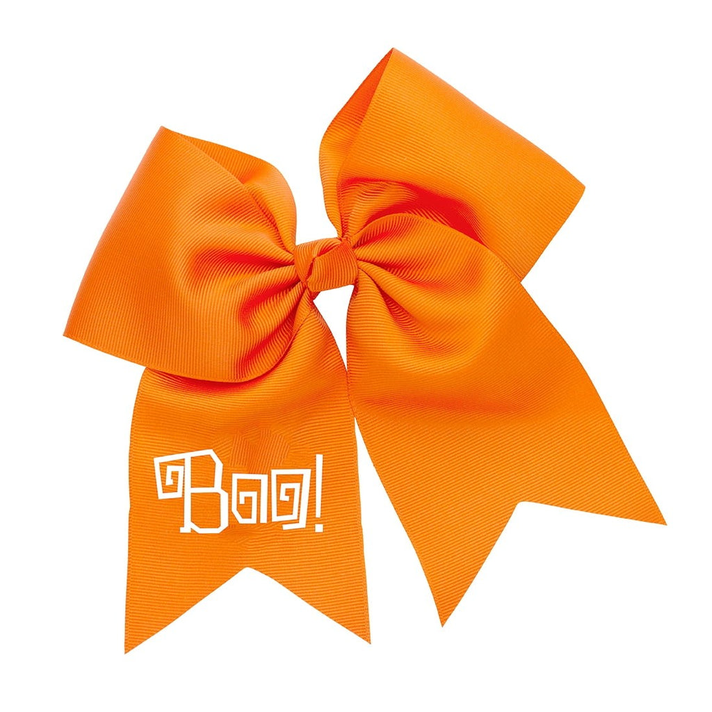Boo! Orange Hair Bow